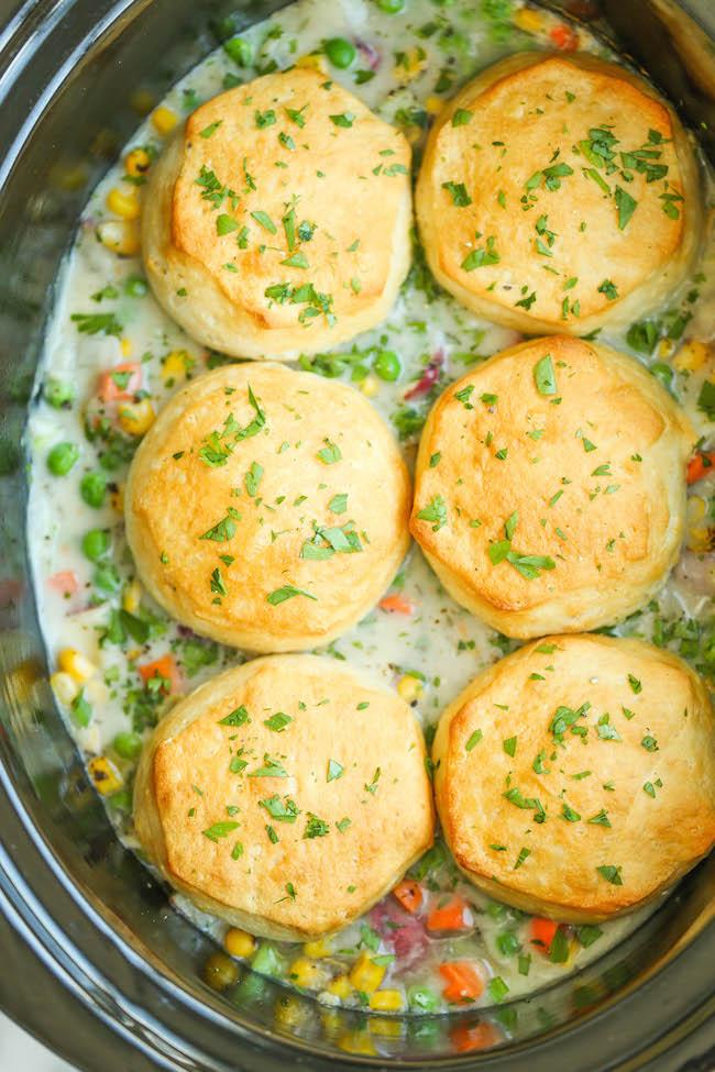 chicken pot pie recipe from scratch slow cooker chicken pot pie damn