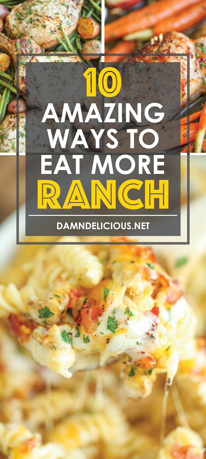 10 Amazing Ways to Eat More Ranch - These are all for you Ranch-lovers out there! From sides to mains to apps, you'll be able to get your Ranch fix anytime!