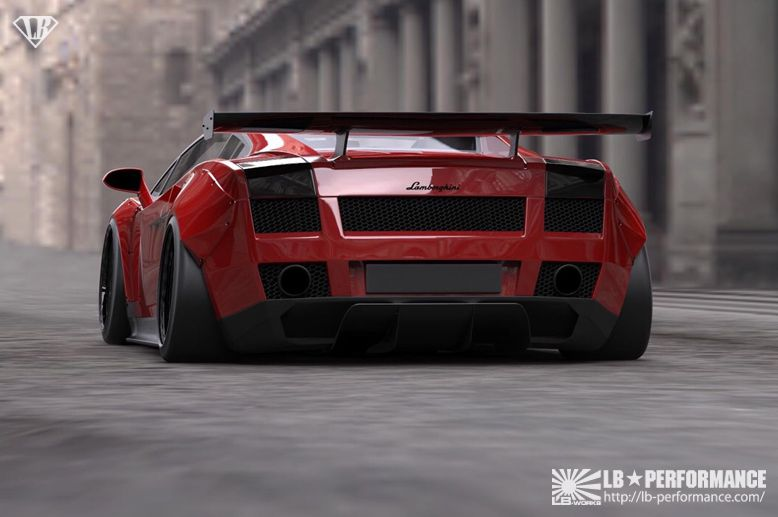 Lamborghini Gallardo Gets Liberty Walk Treatment DamnedWerk