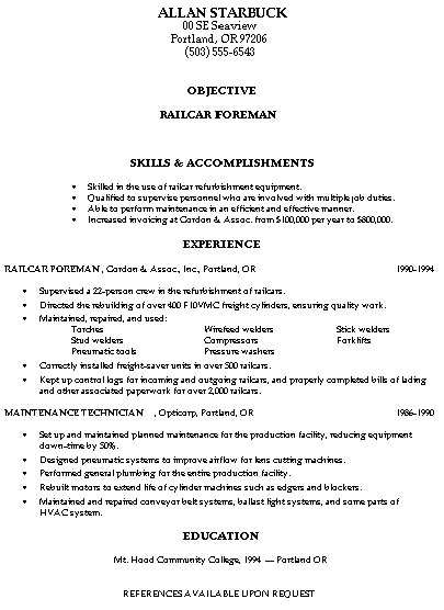 Building Construction Resume Templates