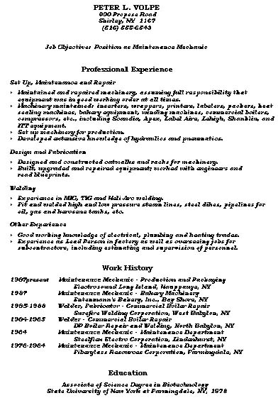 Resume Samples Construction Trades And Labor Damn