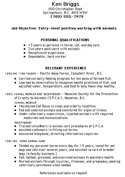 Resume Samples Mixed Bag Damn Good Resume Guide