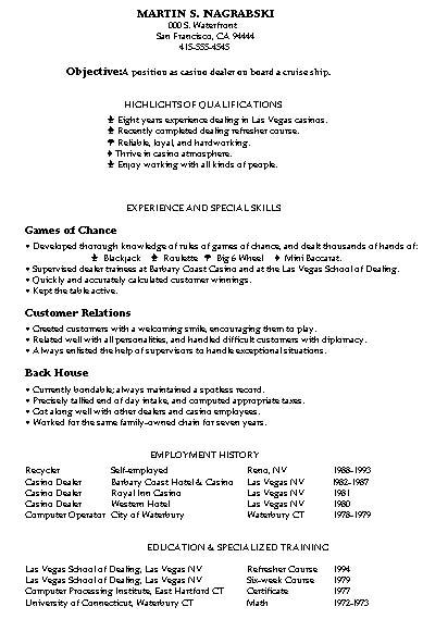 Resume Samples Mixed Bag Damn Good Resume Guide