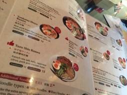 Kizuki Ramen menu