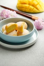 Mochi,ice,cream,with,mango,,traditional,japonese,rise,sweets