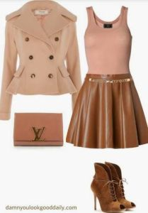 ankle booties with a skater skirt