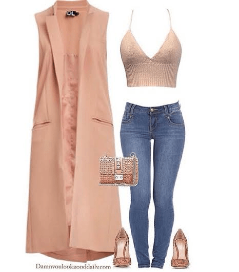 Spring-outfit-ideas-blue-jeans-peach-coat