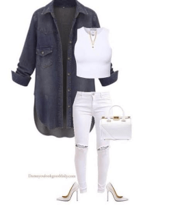 Spring-outfit-ideas-white-jeans-denim-shirt