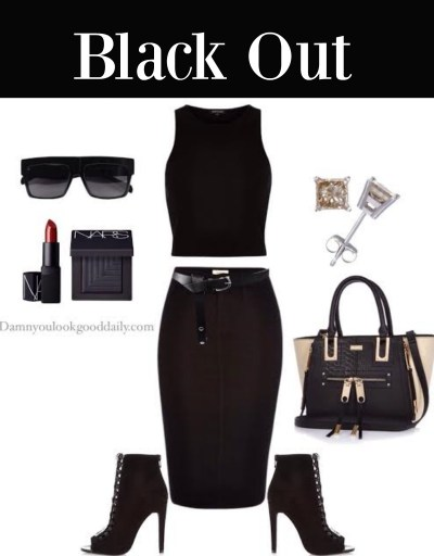 cute-outfit-ideas-black denim-skirt