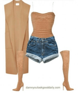 spring-outfit-ideas-jeans-shorts