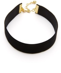 Black fabric choker