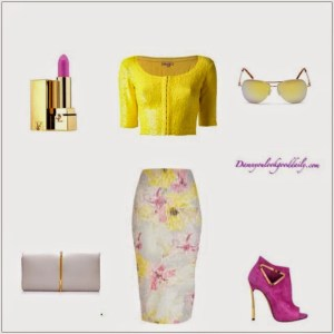 Floral-Pencil-Skirt-Outfit-Idea