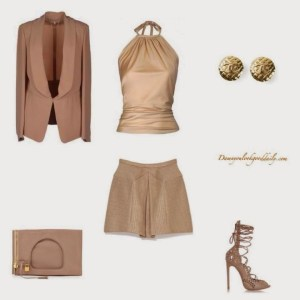 nude-shorts-nude-silk-top-nude-blazer-christian-louboutin-shoes