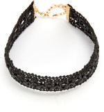 Vanessa Mooney Leather Lace Choker Necklace $44