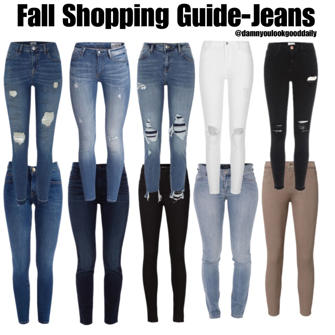 Jeans for fall shopping
