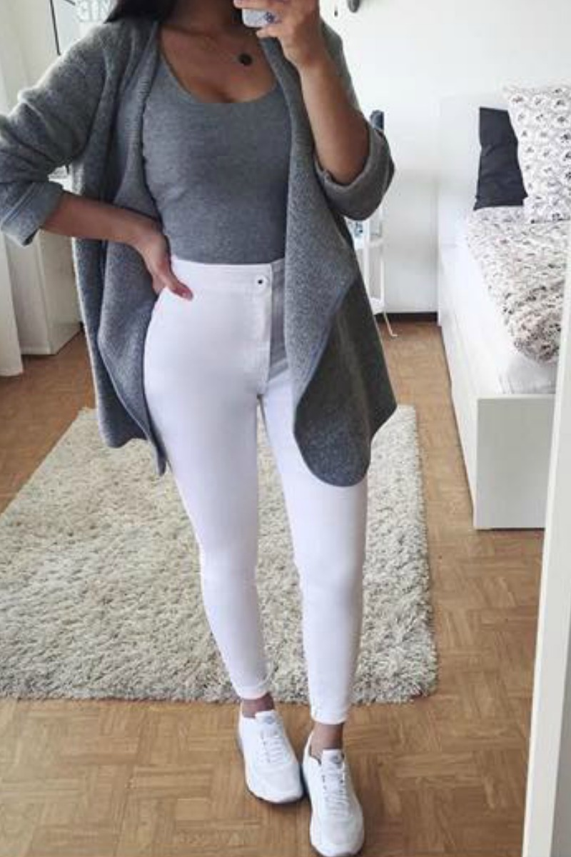 White Jeans Outfit Ideas For Teenagers
