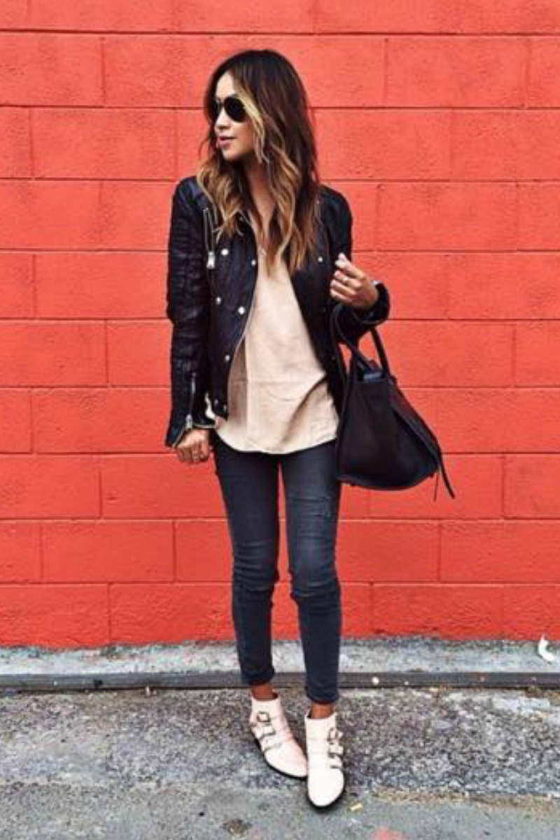 sincerely-jules-fall-outfit-casual-streetstyle-gray-skinny-jeans-black-leather-motorcycle-jacket
