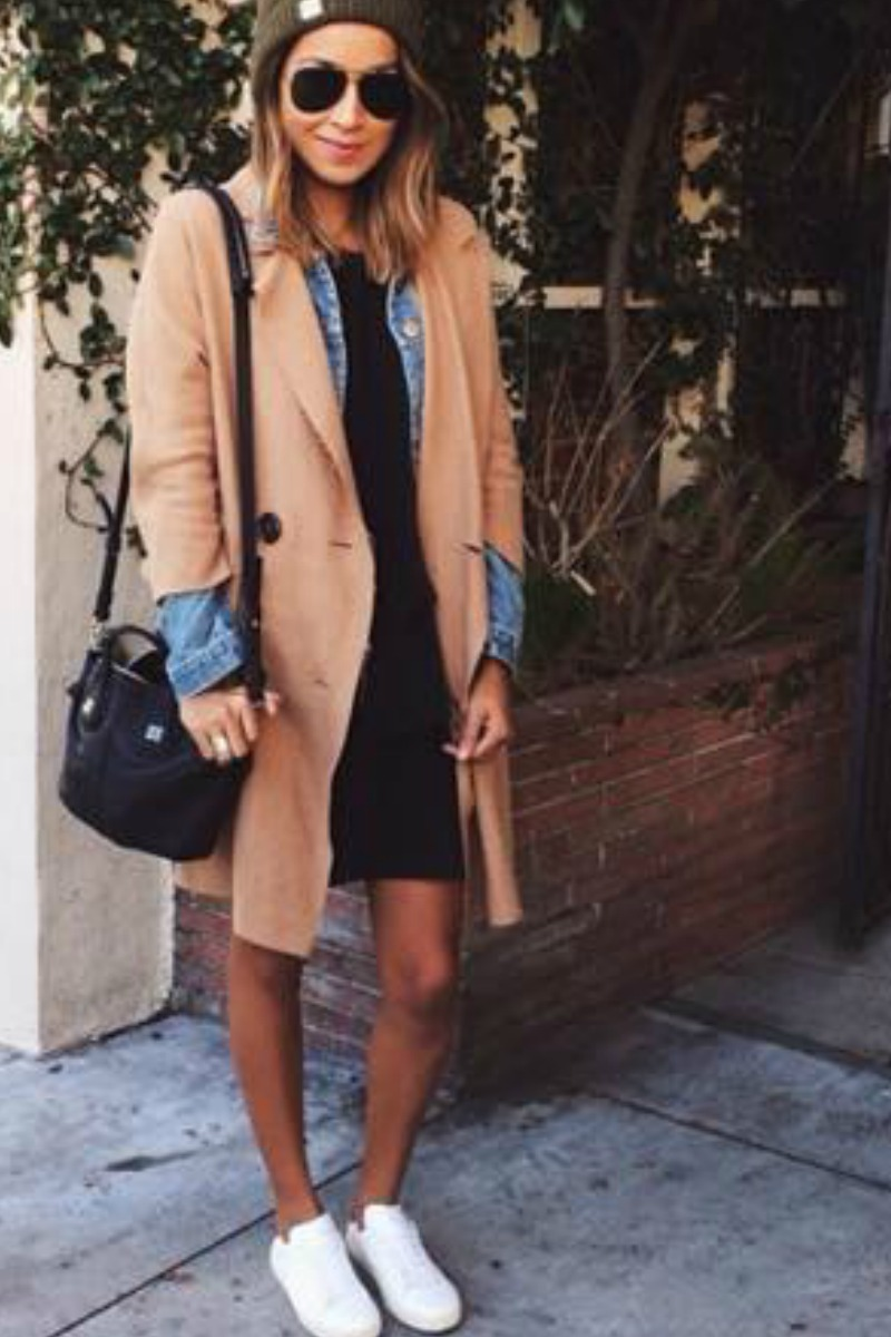 sincerely-jules-fall-outfit-casual-streetstyle-trench-coat-white-sneakers-beanie-hat
