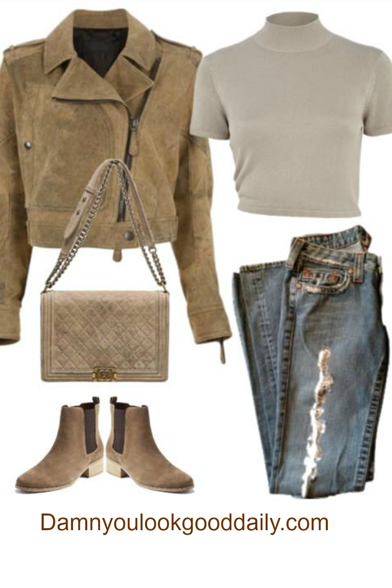 teenage-fall-winter-outfit-ideas-with-ankle-boots-ripped-jeans-suede-jacket