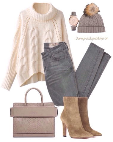 casual-winter-outfit-gray-jeans-booties