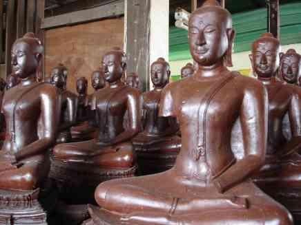 A local Buddha statue factory