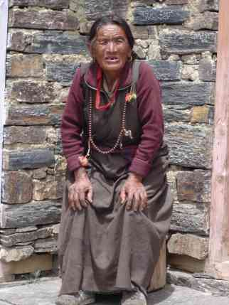 A somewhat 'weathered' old woman