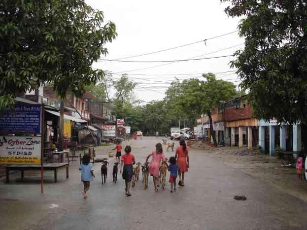 The streets of Lumbini