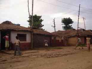 Street cricket in Lumbini