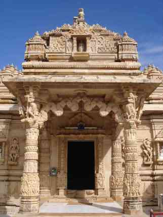 A beautiful intricately carved temple