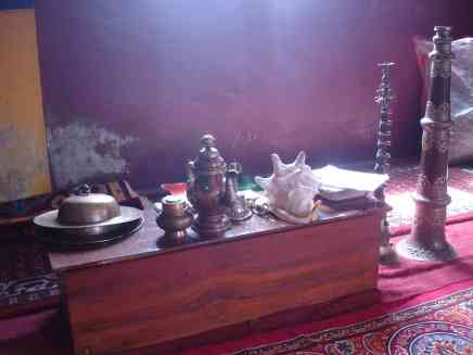 Items in a local gompa