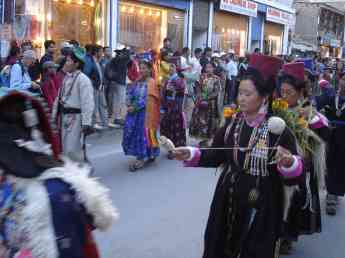 Music and dancing in the streets were a large part of the Ladakh Festival