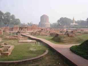 The archeological park in Sarnath
