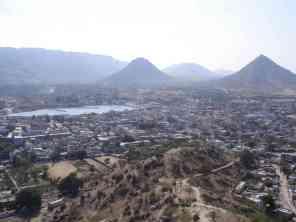 Pushkar from a nearby hill
