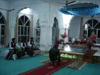 An evening prayer service in a very special gurdwara
