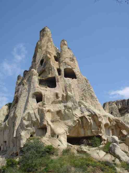Carved out fairy chimneys