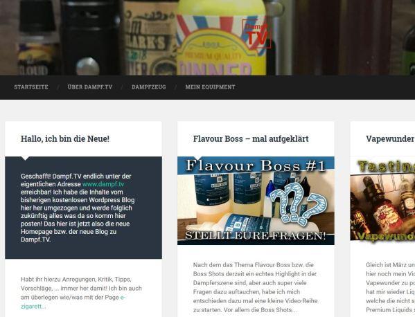 Blog über eZigaretten