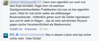 RTL erntet Shitstorm für Ezigaretten/Kokain Beitrag und reagiert mit Spot und Hohn!