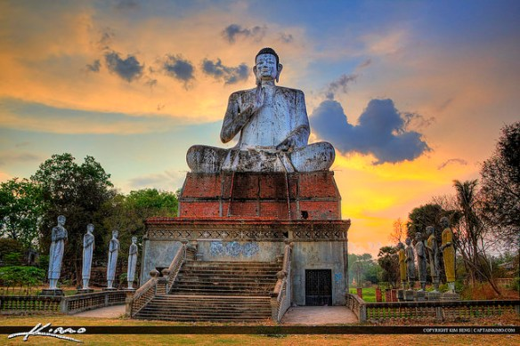 Buddha Statue from Ek Phnom, Battambang, Cambodia. Photograph by Kim Seng via Flickr.