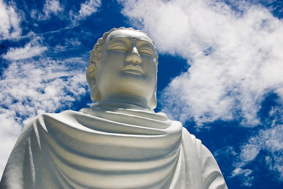 A Statue of the Buddha. Photograph by Petr and Bara Ruzicha via Flickr