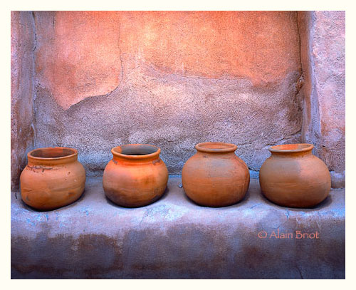 Four Clay Pots. Photograph by Alain Bariot via Google Images.