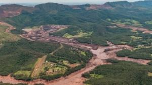 Aerial view of the Brumadinho tailings dam failure
