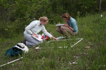 ellen-and-lauren-sampling-dolomite-at-shaw