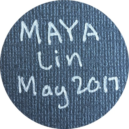 May 2017 Button single - Maya Lin