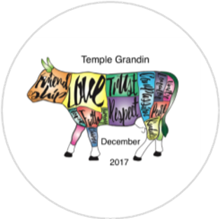 December 2017 Button single - Temple Grandin