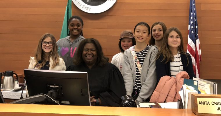 Damsels in Progress visit Courtroom of Judge Crawford-Willis