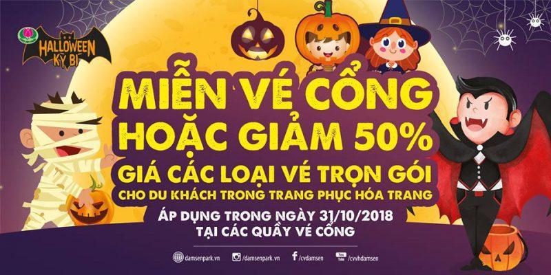 """Halloween Đầm Sen 2018, """"Đầm Sen  – Lễ hội Halloween Kỳ Bí"""", Đầm Sen"""