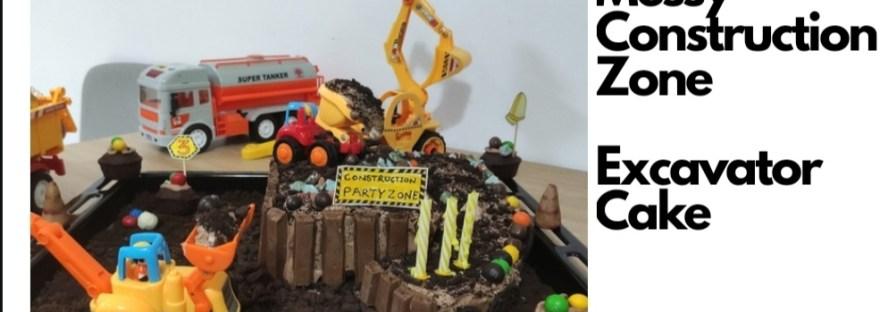 Messy-construction-theme-excavator-cake