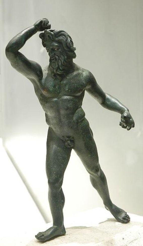 Gigant, bronzen beeldje van Klein-Azië, 3de kwartaal van de 2de eeuw vChr, Louvre, Paris.