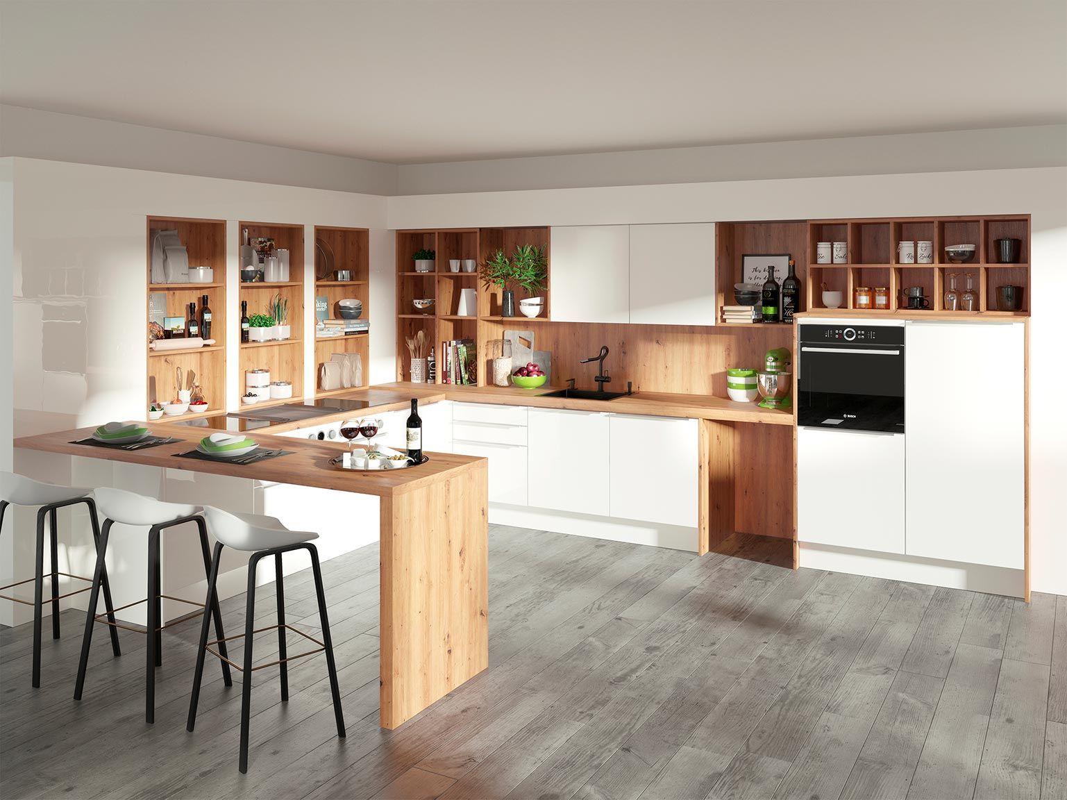 Küche Weiß Anthrazit Holz   Design Kommode Leona Mit Vielen Schubladen   Wohnen.de
