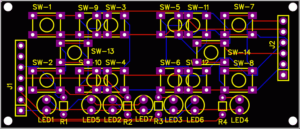 Keypad board PCB design